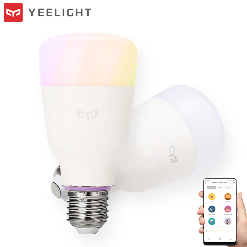 YEELIGHT Original XIAOMI RGBW 10W LED Wireless WIFI Control Light Bulb AC100-240V E26/27 Multiple Colors Smart LED Lighting Bulb