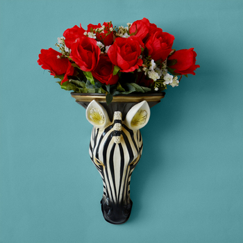 European animal head resin vase basket mural decorations background wall ornaments Home Furnishing creative wall Pendant