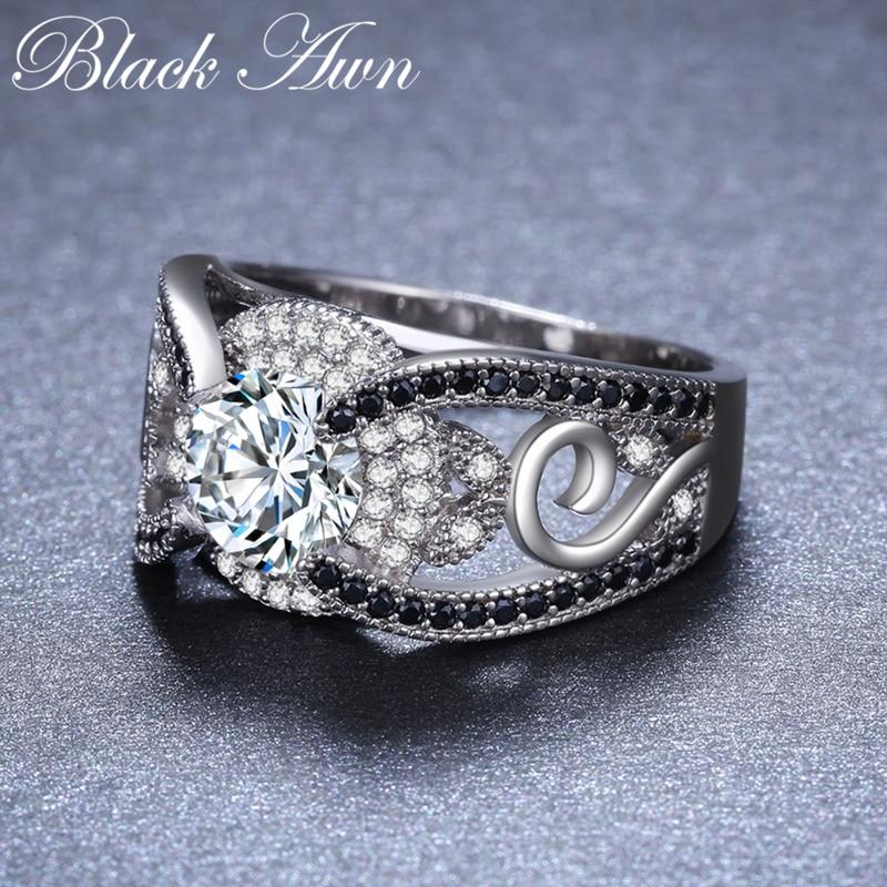 [BLACK AWN] 5.4Gram Genuine 925 ստերլինգ արծաթյա - Նուրբ զարդեր - Լուսանկար 4