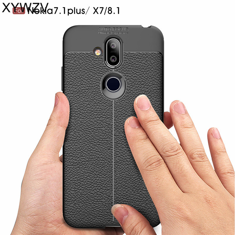 For Phone Case Nokia 7 1 Plus Case Luxury Soft Rubber Phone Case For Nokia 7 1 Plus Back Cover For Nokia 7 1 Plus 8 1 X7 Fundas^ in Fitted Cases from Cellphones Telecommunications