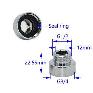 Image 3 - Nữ 3/4 to1/2 nam brass adapter G3/4 Giảm doanh G1/2 threaded Nối máy giặt Nối phụ kiện 1 cái