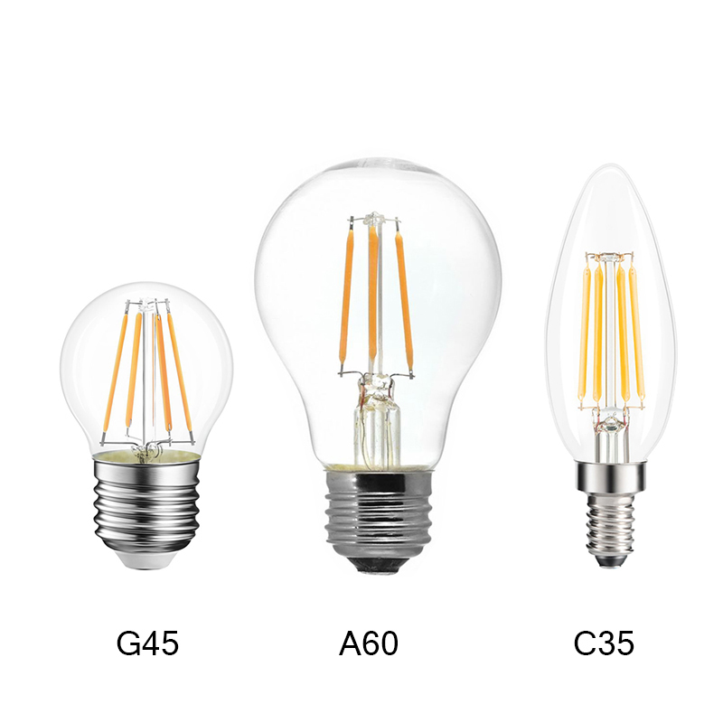 220V <font><b>E14</b></font> <font><b>LED</b></font> Candle <font><b>Bulb</b></font> <font><b>E14</b></font> C35 Filament Light E27 <font><b>LED</b></font> Lamp 230V 240V A60 C35 G45 220V COB <font><b>LED</b></font> Filament light Decoration lamp image