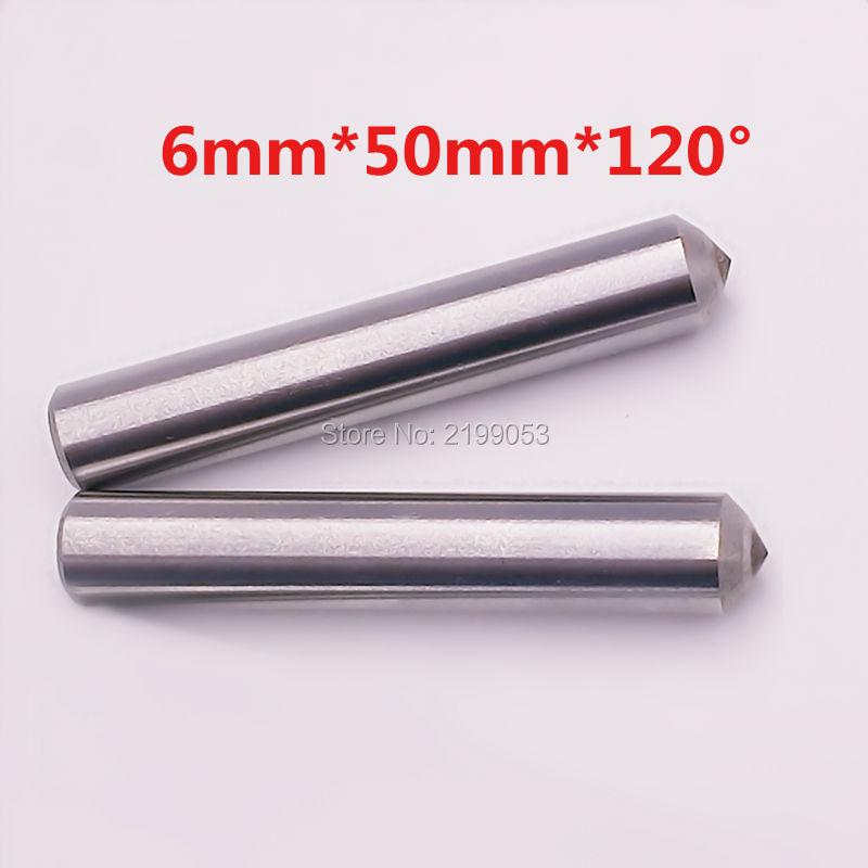 10db / tétel 6 mm átmérőjű 50 mm hosszú 120 fokos gravírozó gép fémgravírozással gyémánt végű húzógravírozó bit