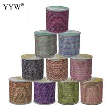 Nylon Cord With Plastic Spool Quality 3mm Multi Color Cord Nylon Cord Thread String Rope Bead Wires Diy Braided Bracelet Making 100yards spool 1mm waxed cotton cord thread cord plastic string strap diy rope bead necklace european bracelet ma