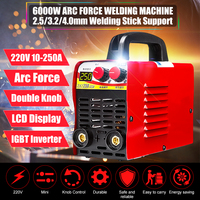 220V 10 250A Mini Arc Electric Welding Machine LCD Display MMA IGBT equipment W/ Thrust For Welding Working and Electric Working