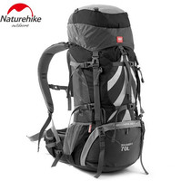 NatureHike Outdoor Mountaineering Backpack Large Capacity 70+5L Climbing Bag Waterproof Hiking Backpacks With Rain Cover
