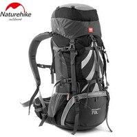 Naturehike открытый альпинизм рюкзак большой Ёмкость 70 + 5l Восхождение сумка Водонепроницаемый Пеший Туризм Рюкзаки с дождевик