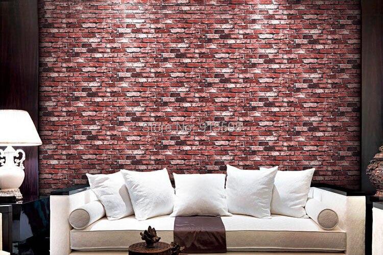 Nowoczesne vintage cegły kamienia pokoju tapety mural 3d winylu wodoodporna tłoczone tapety rolka papel de parede home decor 10 m 15