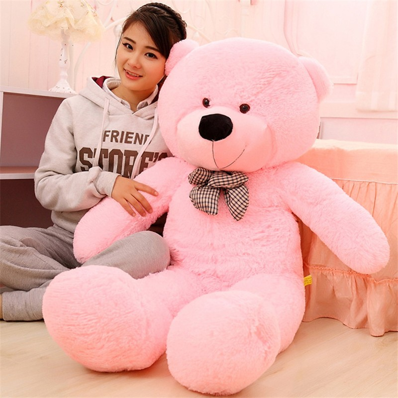 Cute 100CM Giant Big Size Teddy Bear Kawaii Plush Toys Peluches Stuffed Animal Doll Girls Toys Birthday Present Christmas Gift northern europe style double 3d printing ins doll plush sofa stuffed animal child toys birthday xams gift dash pillow cushion