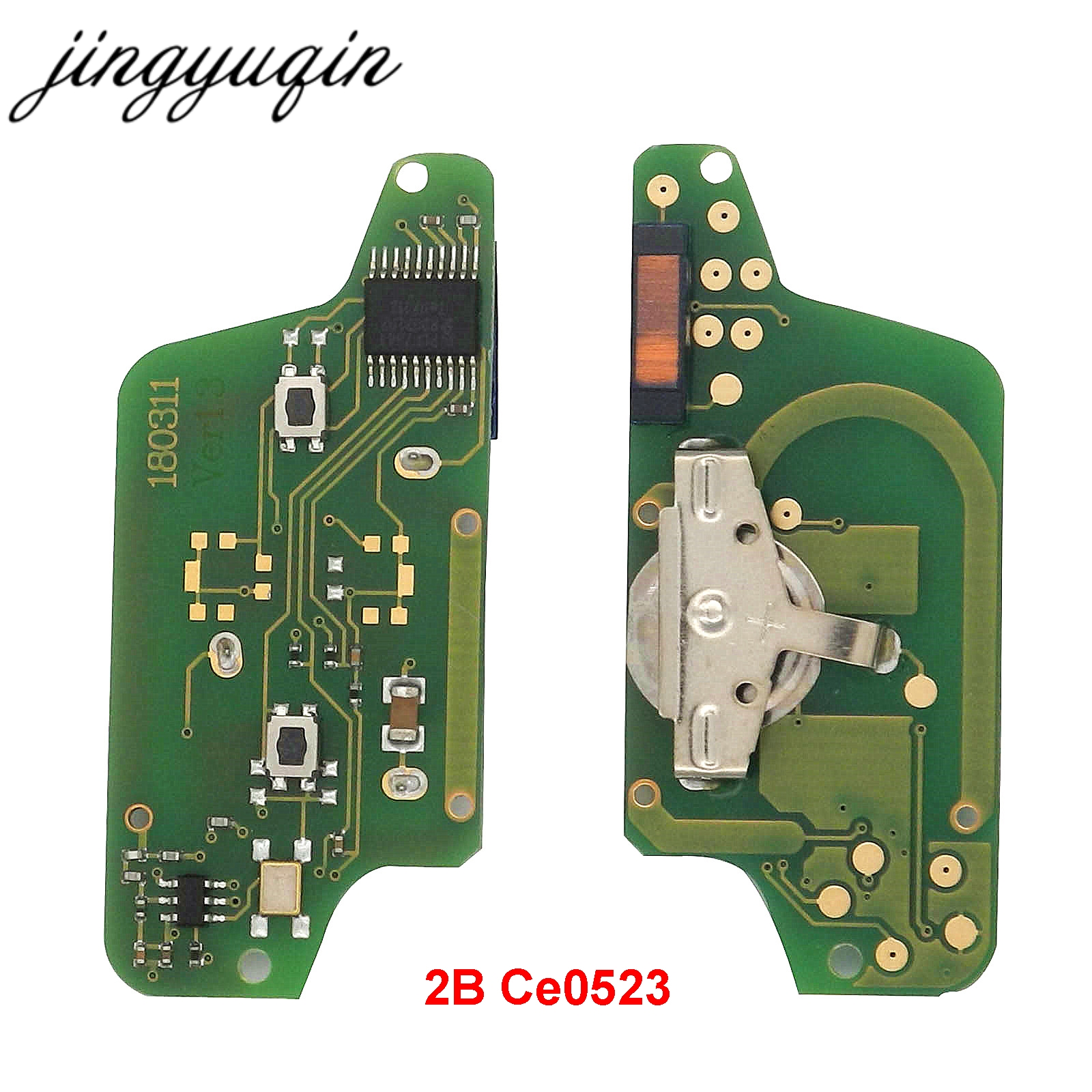 Image 2 - jingyuqin ASK 2B Remote Flip Car Key Electronic Board For Peugeot 307 308 408 407 207 Citroen C2 C3 C4 PICASSO ID46 CE0536/523-in Car Key from Automobiles & Motorcycles