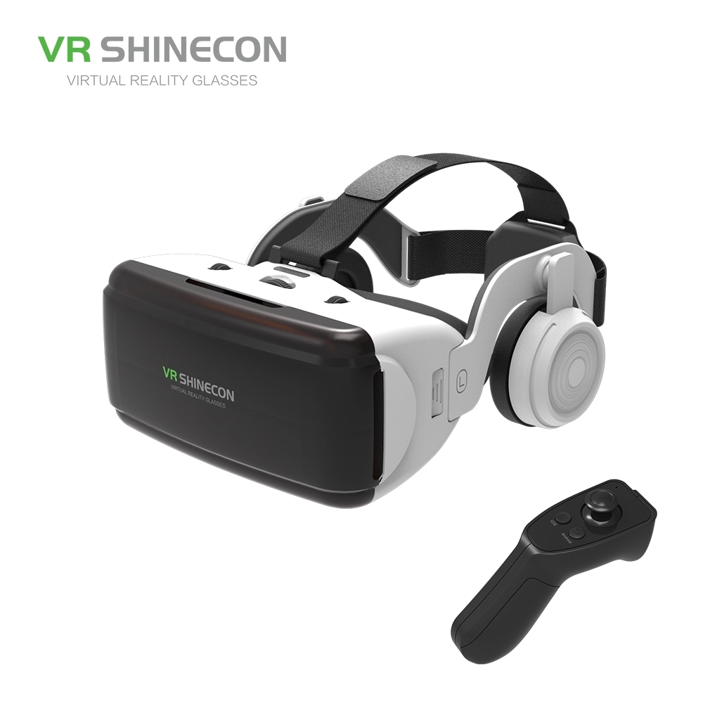 VR Shinecon SC-G06E Box Headset Virtual Reality 3D VR Glasses with Headphone for Mobile Phone vr shinecon 3d vr headset