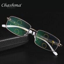 Gafas De lectura De lentes multifocales progresivos De marca CHASHMA para  hombres, gafas deportivas bifocales De hiperopía para . 21b28ab300