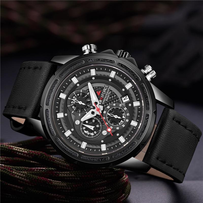 Mâle Top Ancien Calendrier Masculino Chronographe Relogio Sport Armiforce Horloge Homme 8004 Montre Luxe kN80XnwOPZ