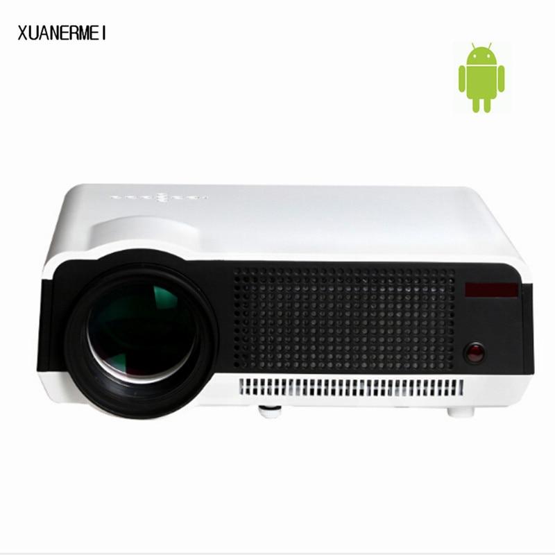 XUANERMEI Brightness 5500Lumens Long life LED Full HD LED home cinema TV projector 3D lcd Multimedia