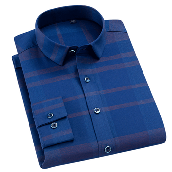 cbbd6697f040fe8 2018 новые эластичные Бизнес Для мужчин Slim Fit платье рубашка Для мужчин рубашка  мужская одежда с длинным рукавом Повседневная рубашка Camisa .