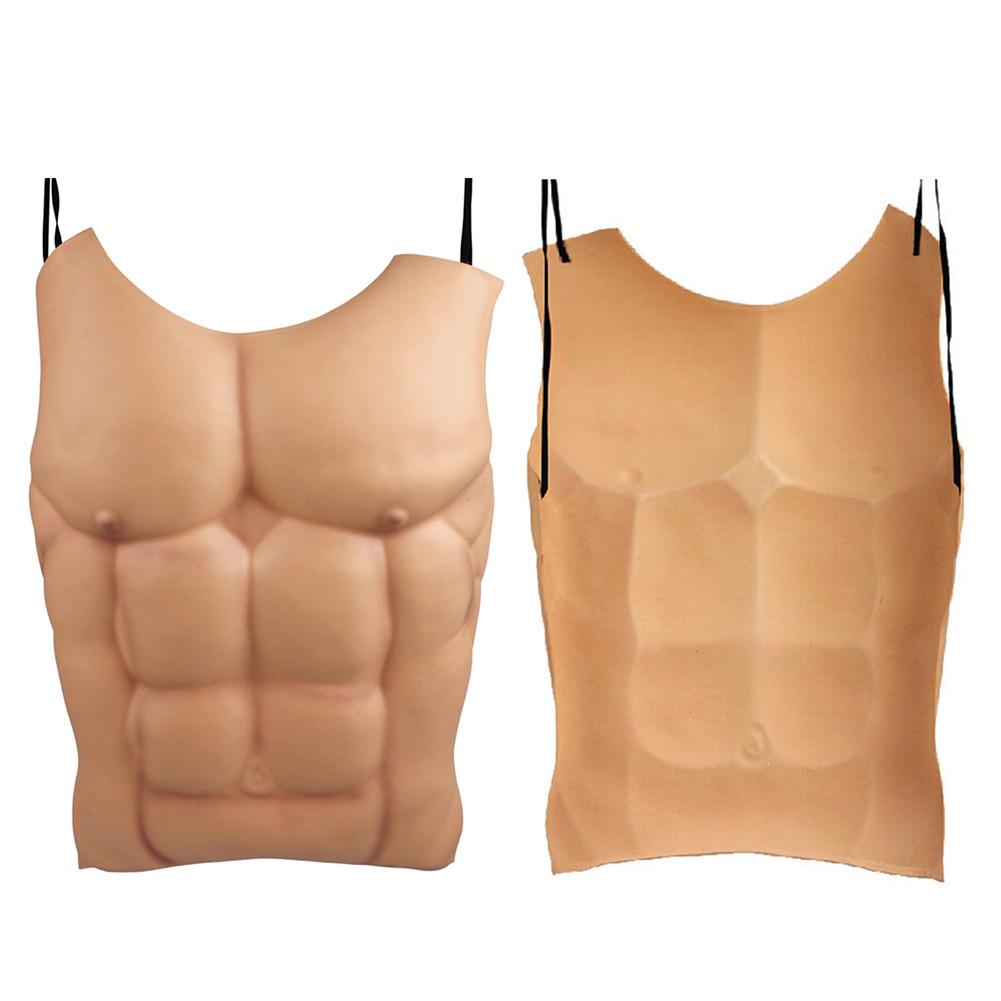 Fake Muscle Men Belly Chest Skin Eva Foam Fake Chest Fake Belly Funny Decoration