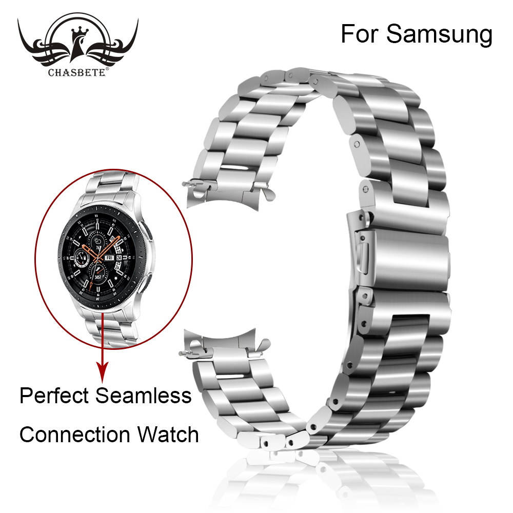 Compatible Samsung Gear S3 Band, Curved End Strap for Samsung Gear S3 Classic Frontier SM-R760/R770 Watch Band Metal Wrist Strap