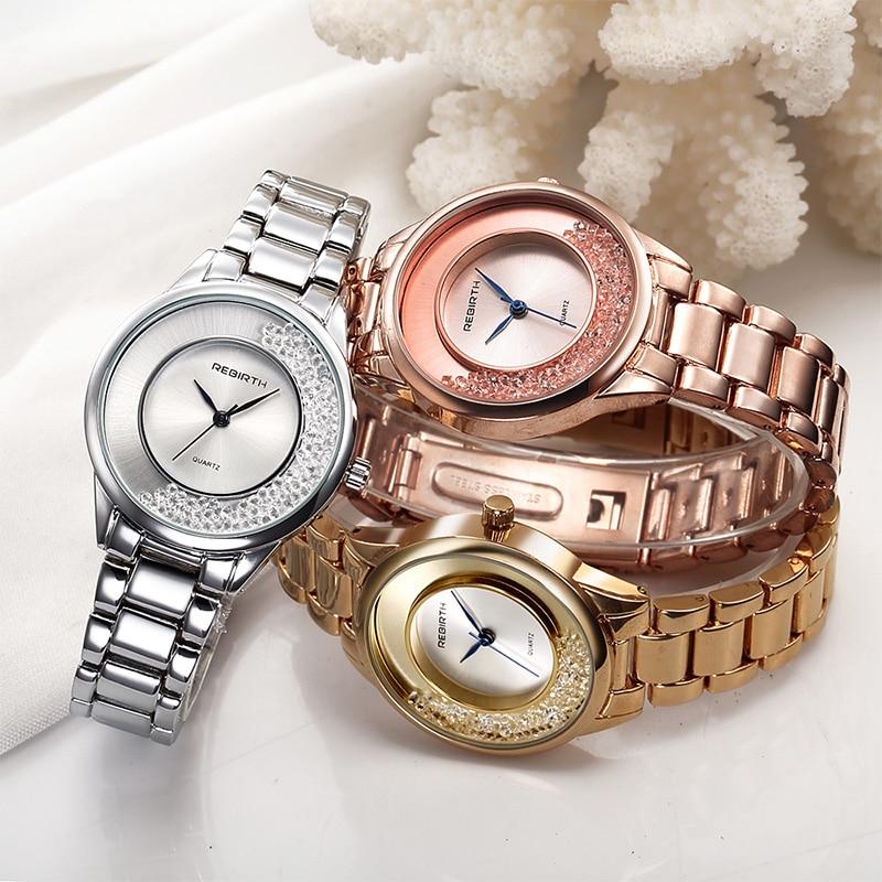 ODRODZENIE Top Brand Luxury Gold Strap Bransoletka kobiety zegarki - Zegarki damskie - Zdjęcie 2