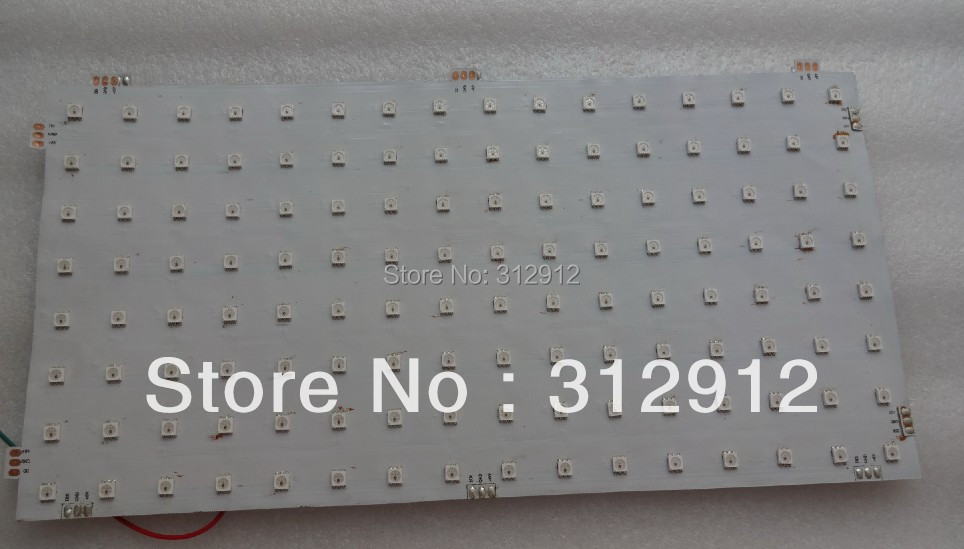 P20mm WS2812 LED digital flexible panel light;8*16pixels: size:16cm*32cm;DC5V input 1195mm 145mm led panel light 21 8w dc24v input