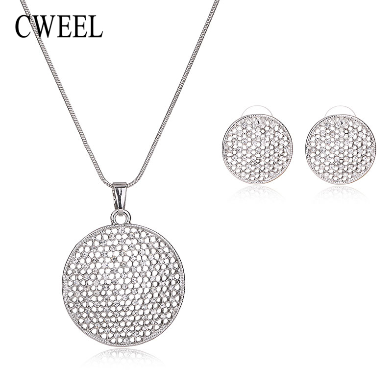 cweel fashion imitated crystal gold plated necklace