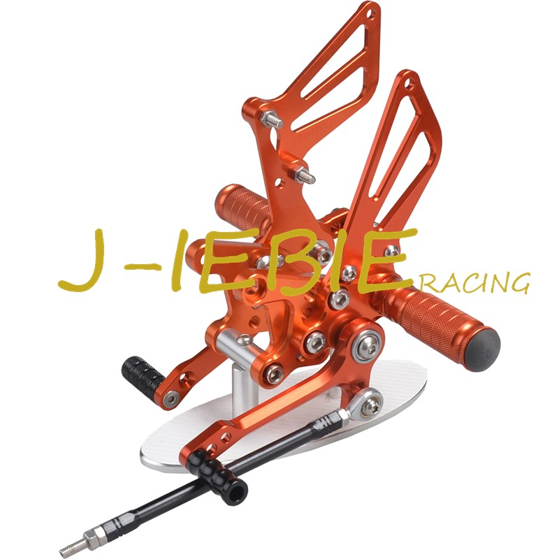 CNC Racing Rearset Adjustable Rear Sets Foot pegs For Suzuki GSXR1000 2001-2004 GSXR600 GSXR750 2001-2005 SV650 SV1000 ORANGE adjustable rider rear sets rearset footrest foot rest pegs gold for suzuki gsxr600 gsxr750 gsxr 600 750 2011 2012 2013 2014 2015