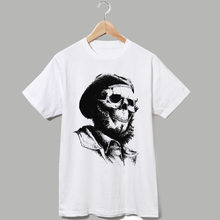 Che guevara crâne art I want you to rebelle hommes femmes taille punk rock t shirt style décontracté(China)