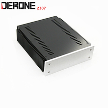 1 pezzo telaio in alluminio amplificatore di potenza caso di shell scatola di alimentazione preamplificatore encasement