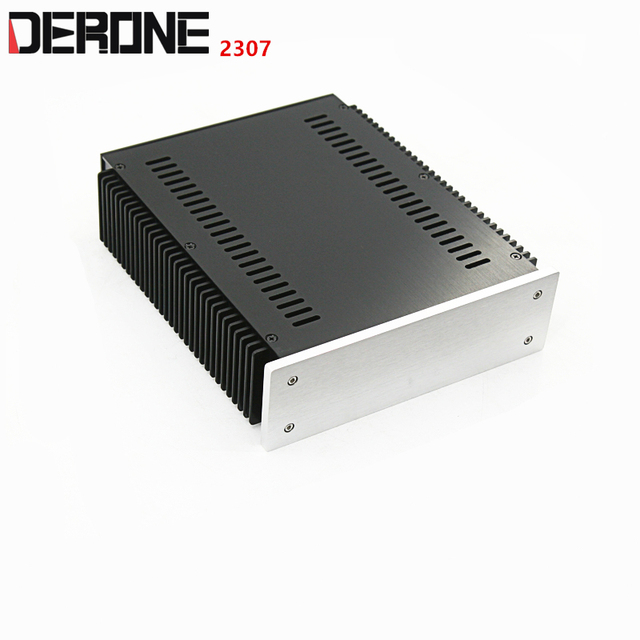 1 piece aluminum chassis power amplifier shell  case power box preamplifier encasement