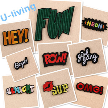 1pcs Mixture Patch for Clothing Iron on Embroidered Sew Applique Cute Patch Fabric Badge Garment DIY