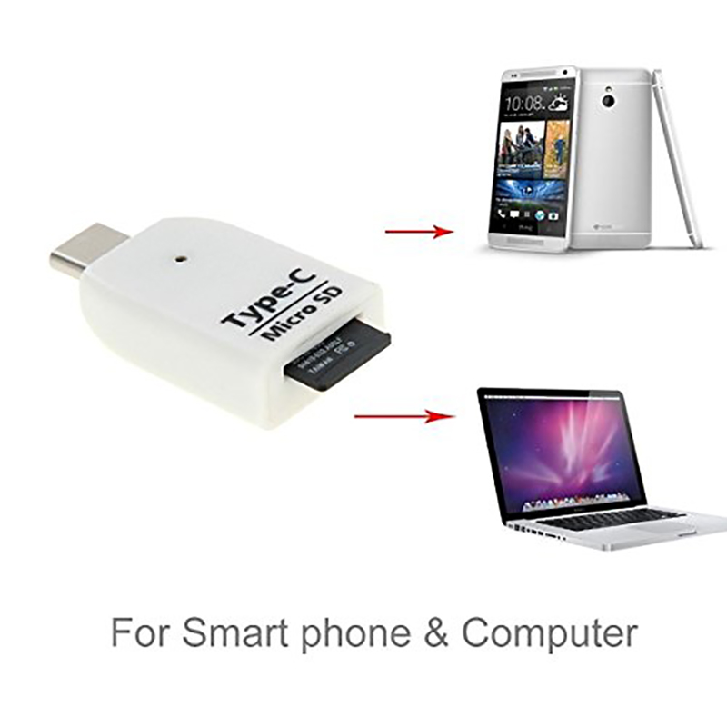 Connector USB 3.1 Type-C to Micro SD SDXC TF Card Reader Adapter for Macbook / Nokia N1 Tablet PC / Letv SmartPhone