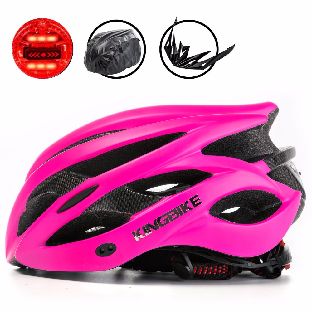 BATFOX Woman MTB Cycling Helmet Pink Mountain/Road Bike Helmets Integrally-Molded Bicycle Helmet Light Capacete Ciclismo Helmets