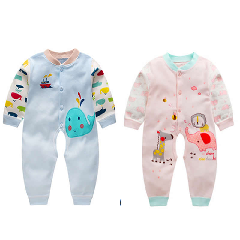 Soft Cotton Baby Unisex Rompers Overalls Newborn Clothes Long Sleeve Roupas de bebe Infantis Boy clothing Set Baby Jumpsuit цена