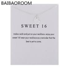 12 шт модное ювелирное изделие сладкое 16 сердечко любовь ожерелье