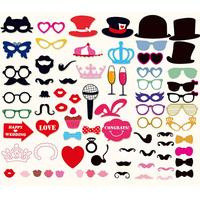Wedding DIY Decoration Photo Booth Props Funny Glasses Mustache Birthday Party Supplies Photobooth Favor
