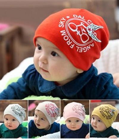 Retail fashion cotton baby hat baby bike hats skull cap  infant caps headwear beanie boys girls gift