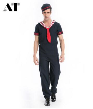Mens Captain Costume Sailor Navy Officer and Gentleman Adult Fancy Dress Outfits