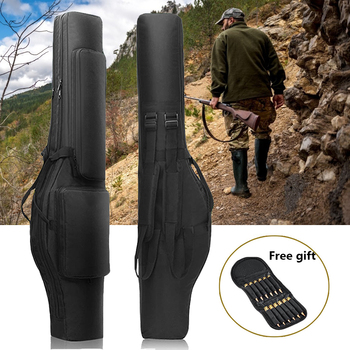 Tactical Dual Rifle Bag Waterproof Gun Holster Airsoft Gun Case Rifle Gun Bag Pouch for Outdoor Hunting Shooting Fishing Bags