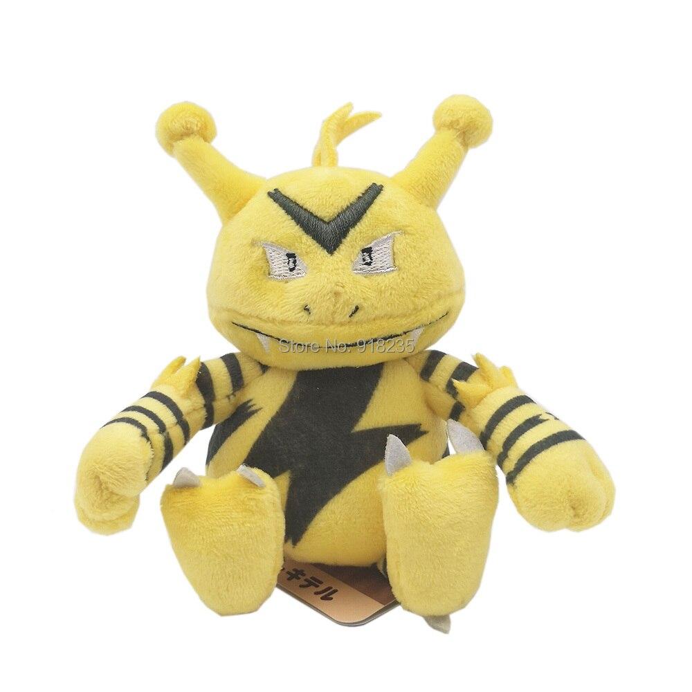 20/Lot Electabuzz 13 ซม.ตุ๊กตาตุ๊กตาตุ๊กตาการ์ตูนตุ๊กตาคริสต์มาสตุ๊กตาของเล่น-ใน ภาพยนตร์และทีวี จาก ของเล่นและงานอดิเรก บน   1