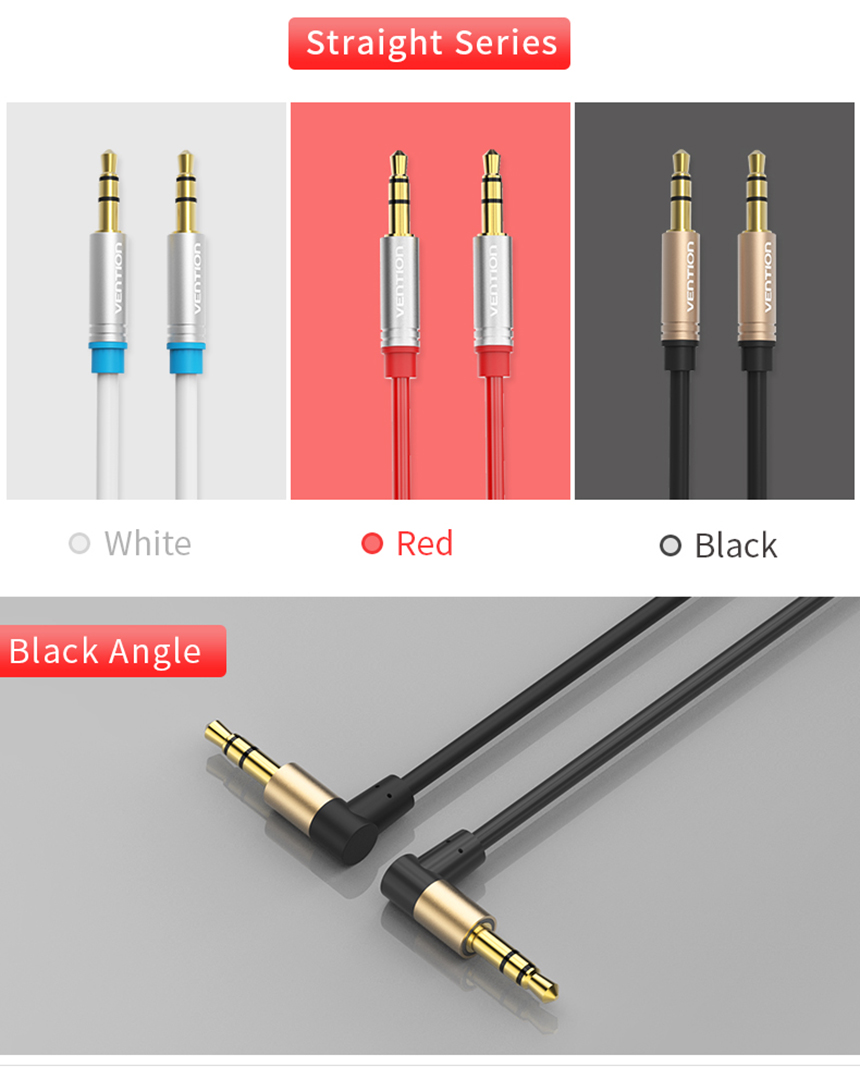Original Vention Audio Cable 3.5mm Jack Male to Male Cable Audio 90 ...