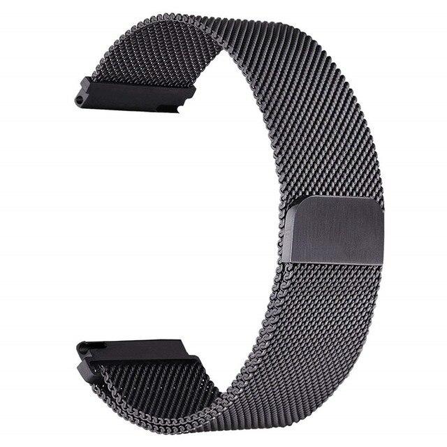 Ремешок для часов, Миланская петля, ремешок для samsung Шестерни S3 Galaxy Watch 46 мм 42 мм Длина браслета: 22 мм 20 мм Нержавеющаясталь браслет для Шестерни S2 Huami Amazfit