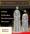 4PCS Crystal Spike AB  Set  male g-spot stab enlargement of the clitoris stimulation longer bold penis delay condoms
