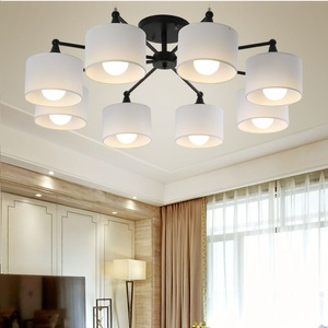 Image 4 - Plafonnier au design créatif moderne simpliste, éclairage dintérieur, luminaire dintérieur, en blanc, en noir, en or et en argent E27, luminaire décoratif de plafond, idéal pour un salon, LED