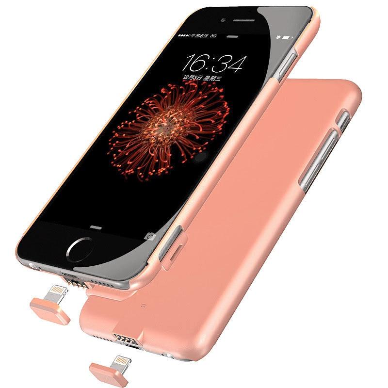 imágenes para Batería externa del cargador portátil power bank caso de la cubierta para iphone 7 más iphone 6 s plus cargador de batería del banco de potencia de copia de seguridad caso