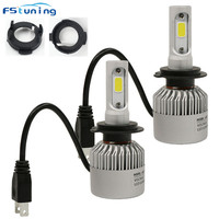 FSTUNING H7 Led Headlight Adapter For KIA Carens Opel Astra H Car H7 Led Holder Bulb