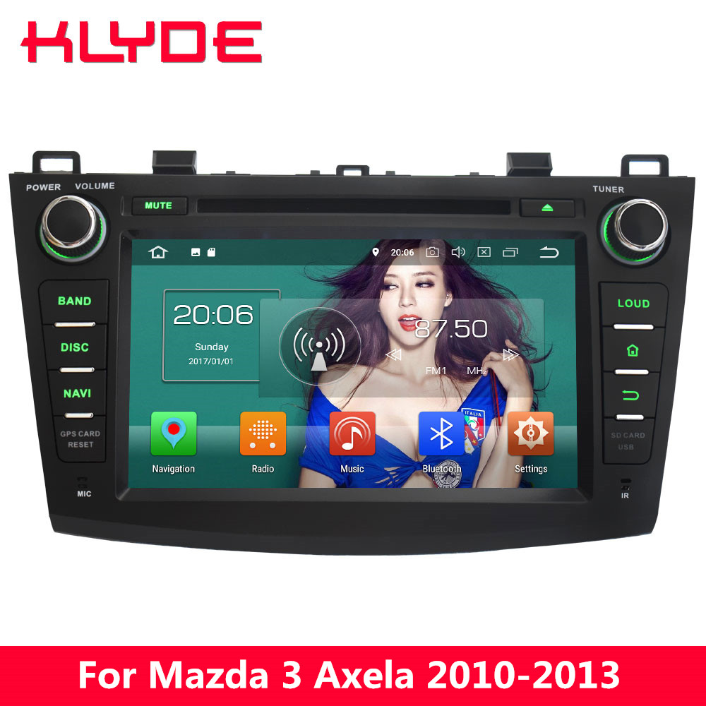 KLYDE 8 4G Android 8.0 Octa Core PX5 4GB RAM 32GB ROM BT Car DVD Multimedia Player Radio For Mazda 3 Axela 2010 2011 2012 2013 2pcs yongnuo yn660 wireless flash speedlite gn66 2 4g hss 1 8000s trigger for canon eos 1d 6d mark ii iii iv 7d 60d 50d 40d 1ds
