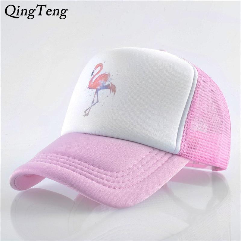 Summer Fashion Flamingo   Baseball     Caps   For Men   Cap   Style Women Hat Snapback Breathable Mesh Sun Gorras Unisex Streetwear Bone