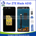 Original Black Full LCD DIsplay+Touch Screen Digitizer Assembly Replacement Spare Parts For ZTE Blade A510 BA510 BA510C + Tools