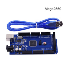 Free shiping !!! Mega 2560 R3 Mega2560 REV3 ATmega2560-16AU Board + USB Cable Compatible Good Quality Low Price(China (Mainland))