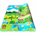 2*1.8m Kids Double-Side Play Mat,Children Rug Crawling Carpet Playmat Puzzle Gym Foam Play Soft Floor Game Baby Toys Carpet