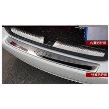 Нержавеющая сталь Задний бампер протектор Подоконник автомобильный аксессуар для Фольксваген Джетта MK6 2013